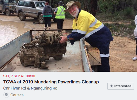 2019 Mundaring Powerlines Cleanup