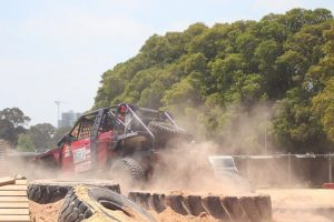 A 4WD showing-off on the 4WD adventure show.