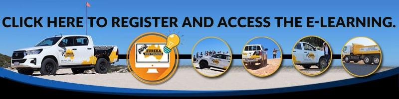 An ad banner of Eureka 4WD for e-learning access and registration.