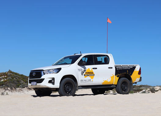 Eureka 4WD parked on a sand terrain, for sand gallery/images.