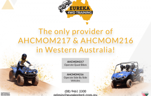 Eureka 4WD Training banner about quad bikes, ATV and side-by-side units.