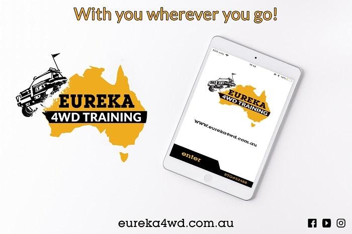 Eureka 4WD Training app on a tablet.