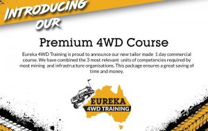 A banner with details from the premium 4wd course of Eureka 4WD Training.