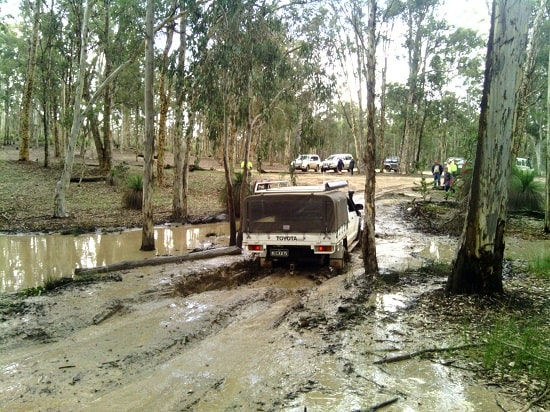Driving Through Mud – Don't Do it, End of Blog!