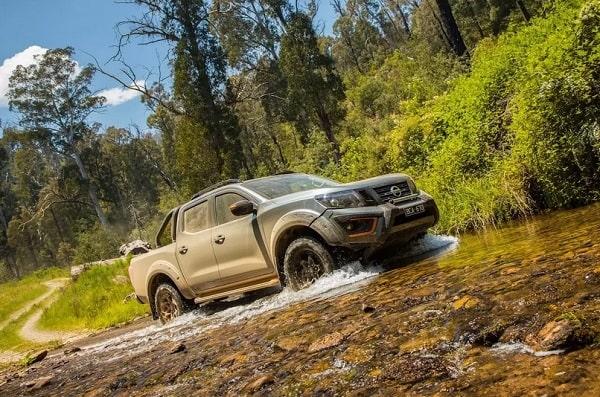 Nissan Navara N Trek Warrior travelling on an a swamp.