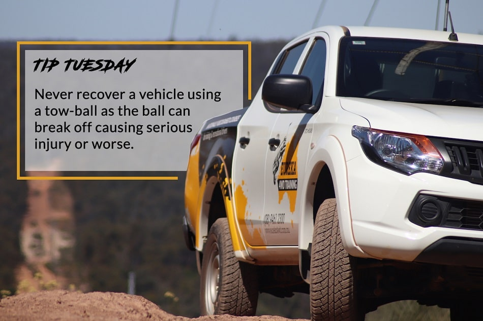 A banner with a headline of Tip Tuesday made by Eureka 4WD Training.