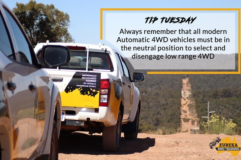 Eureka 4WD Training banner with a headline of Tip Tuesday.