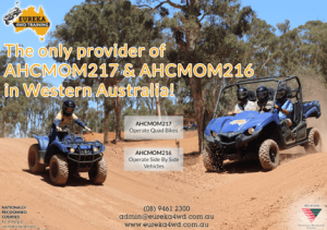 Quad Bike & Side-by-Side Training Provider banner in WA by Eureka 4WD Training.