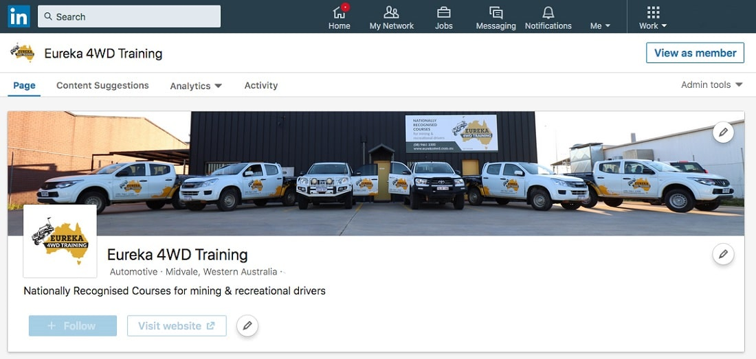 Eureka 4WD On LinkedIn
