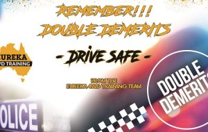 """Notification banner about the 2020 double double demerits update as the header image of the """"double demerit dates"""" blog."""