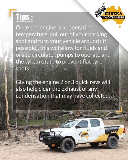 A banner with a headline of isolation tips and advices from Eureka 4WD Training.